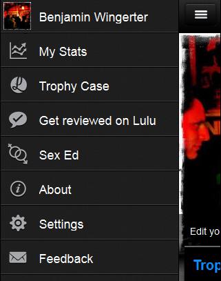 Navigation der Webapp Lulu Dude