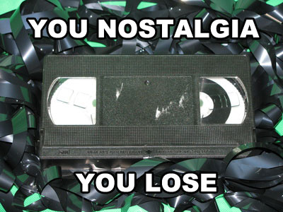 Videokassette in typischem Bandsalat