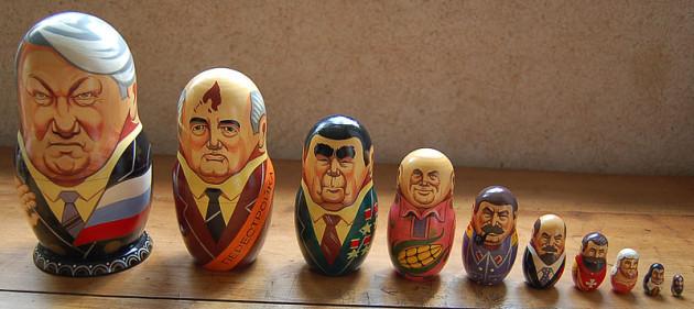 russische Präsidenten Matroschkapuppen