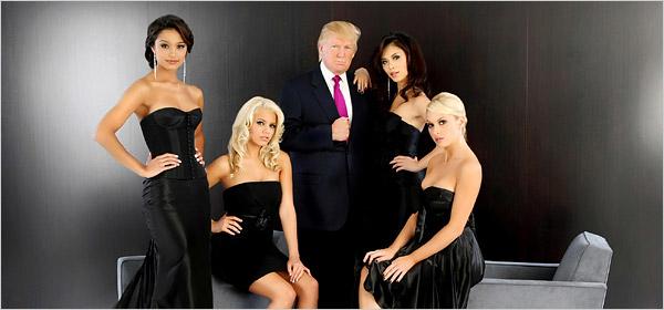 Donald Trump mit 4 Schönheitsköniginnen