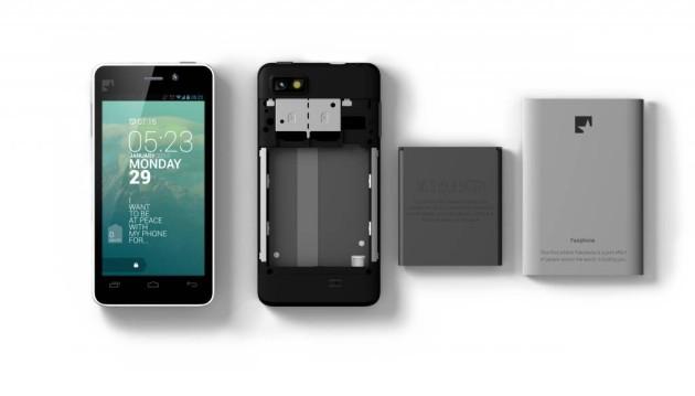 Fairphone: Front, Rückseite, Akku und Abdeckplatte