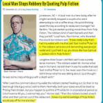 MMM: Mann stoppt Raubüberfall Pulp Fiction Style