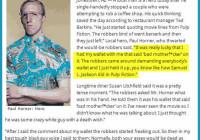 Mann stoppt Raubüberfall Pulp Fiction Style