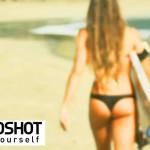 Roboterkamera filmt Surfer Girls
