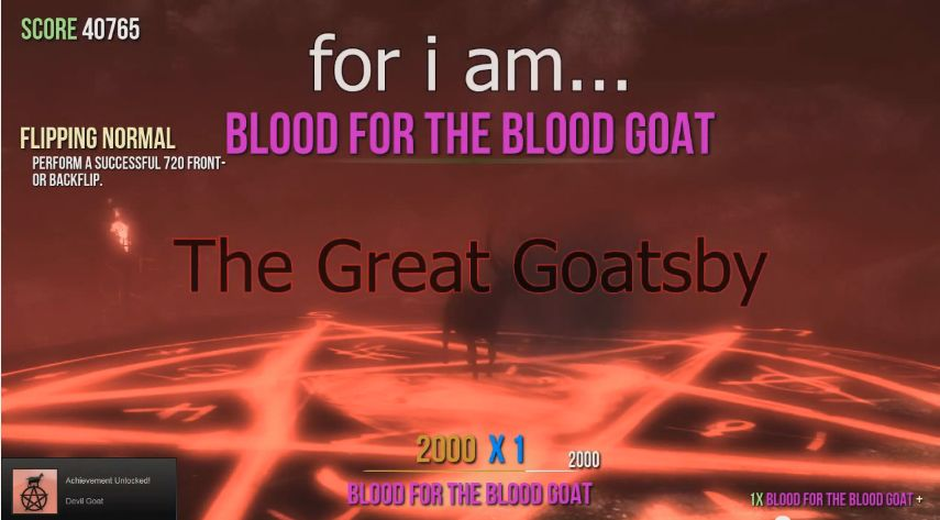 Goat Simulator Devil Achievement