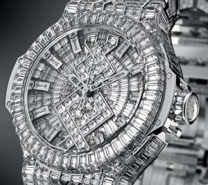 Hublot Diamant Uhr Ziffernblatt mit Zeigern