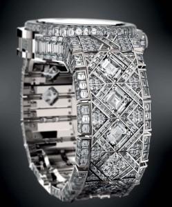 Seitenansicht der Hublot Diamant Uhr